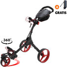 Big Max IQ 360 Golftrolley, Zwart/Rood