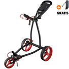 Big Max Blade IP Golftrolley, Zwart/Rood