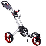 Fastfold 360 Golftrolley Zilver/Rood