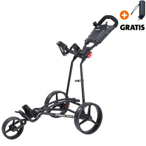 Big Max Autofold+ Golftrolley, Zwart