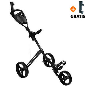 Fastfold Express Golftrolley, Mat Zwart