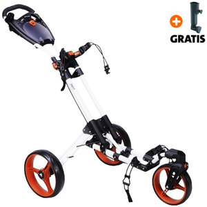 Fastfold 360 Golftrolley, Wit/Oranje