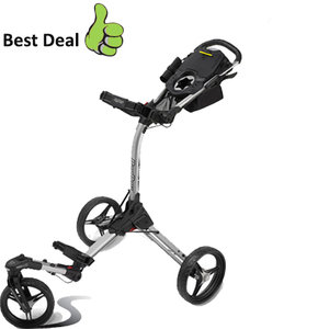 BagBoy Tri-Swivel II Golftrolley, Zilver